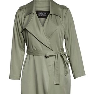 Badgley Mischka Angelina Trench Coat Belted